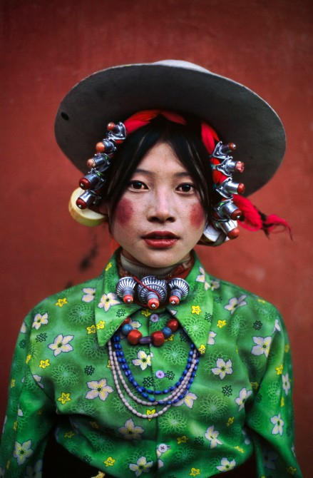 TIBET. Tagong. 1999. Woman at horse festival.