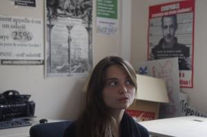 Pour Clotilde Hoppe, secrétaire générale de l'UNEF Science Po, l'arrivée du FN dans l'école était prévisible (crédit: Samuel Chalom)